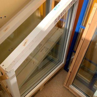 Fria former fast fönster med lutning i trä/alu 1110x980 ( i högsta punkten) 1 höger och 1 vänster