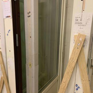 Fönsterdörr 8x22 trä/alu Vänster 3-glas Vitt