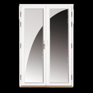 NorDan Tanum helglasad parfönsterdörr alu utvändigt