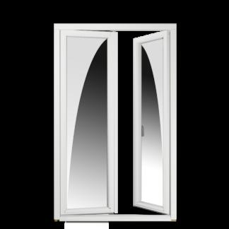 NorDan helglasad inåtgående parfönsterdörr Tanum trä aluminium