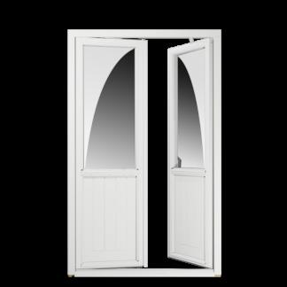 NorDan Tanum inåtgående parfönsterdörr bröstning trä aluminium