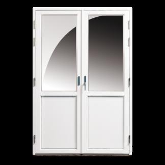 NorDan Tanum parfönsterdörr med bröstning aluminium utvändigt