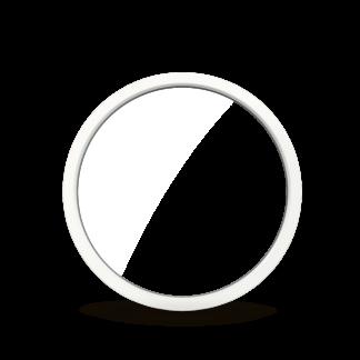 NorDan Tanum fast cirkelfönster trä aluminium