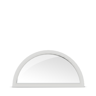 NorDan Tanum fast halvcirkelfönster trä aluminium