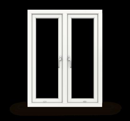 NorDan Tanum sidohängt fönster 2-luft trä aluminium inifrån