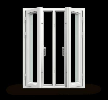 NorDan Tanum sidohängt fönster 2-luft trä aluminium utifrån